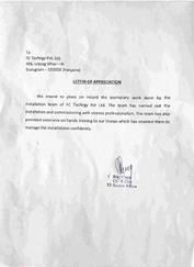 Our Appreciation Letters